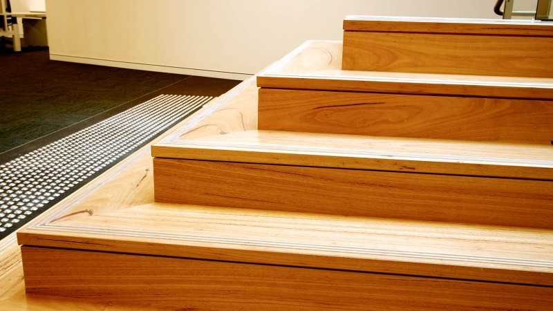 Blackbutt Feature Staircase Canalpie Timbers And Design
